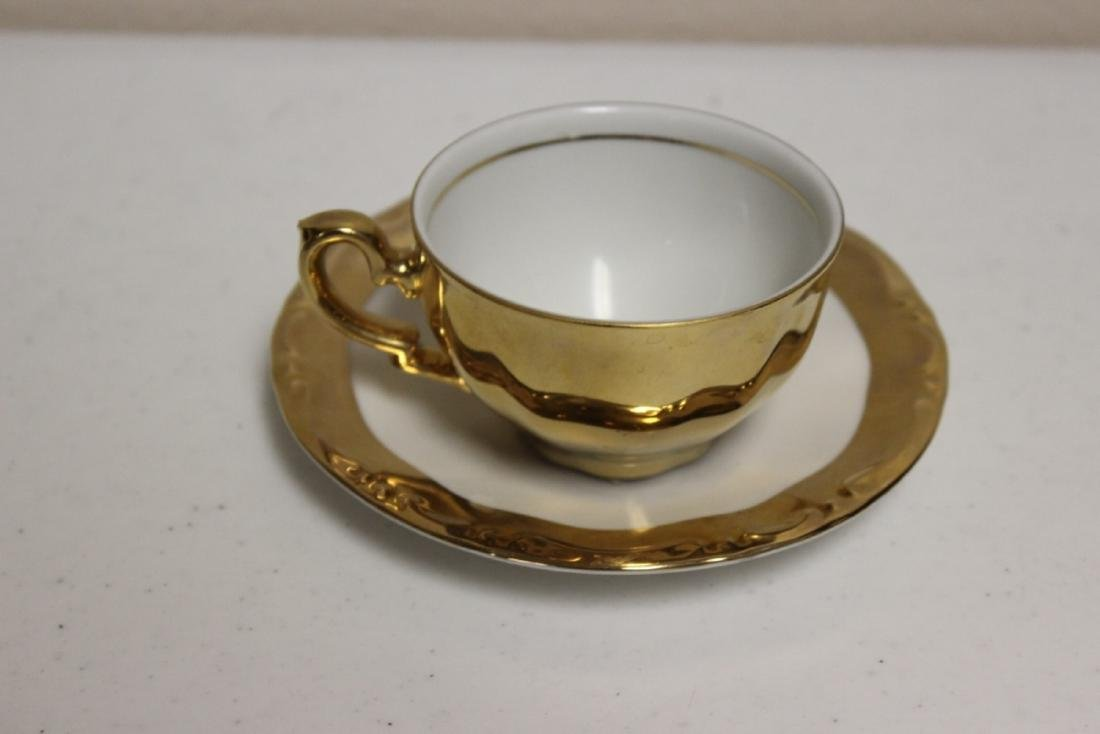 A Kronester Bavaria Bone China Cup and Saucer