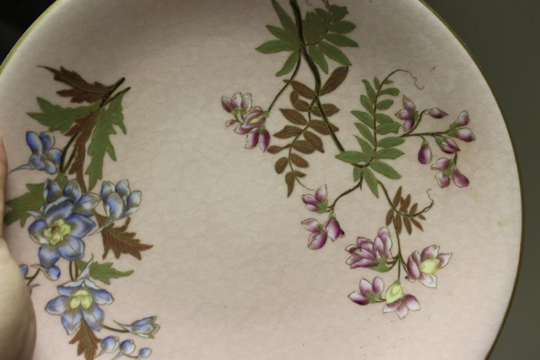 A Rare Royal Worcester Patent Pink Hand Painted Plate