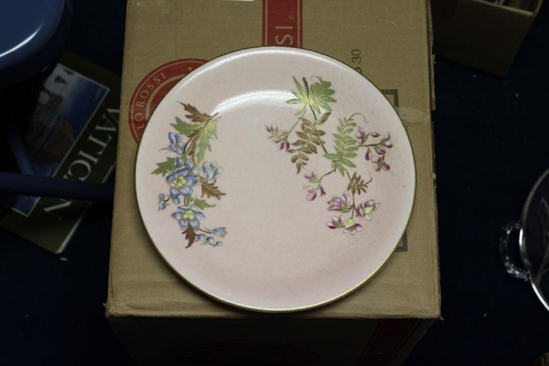 A Rare Royal Worcester Patent Pink Hand Painted Plate - 2