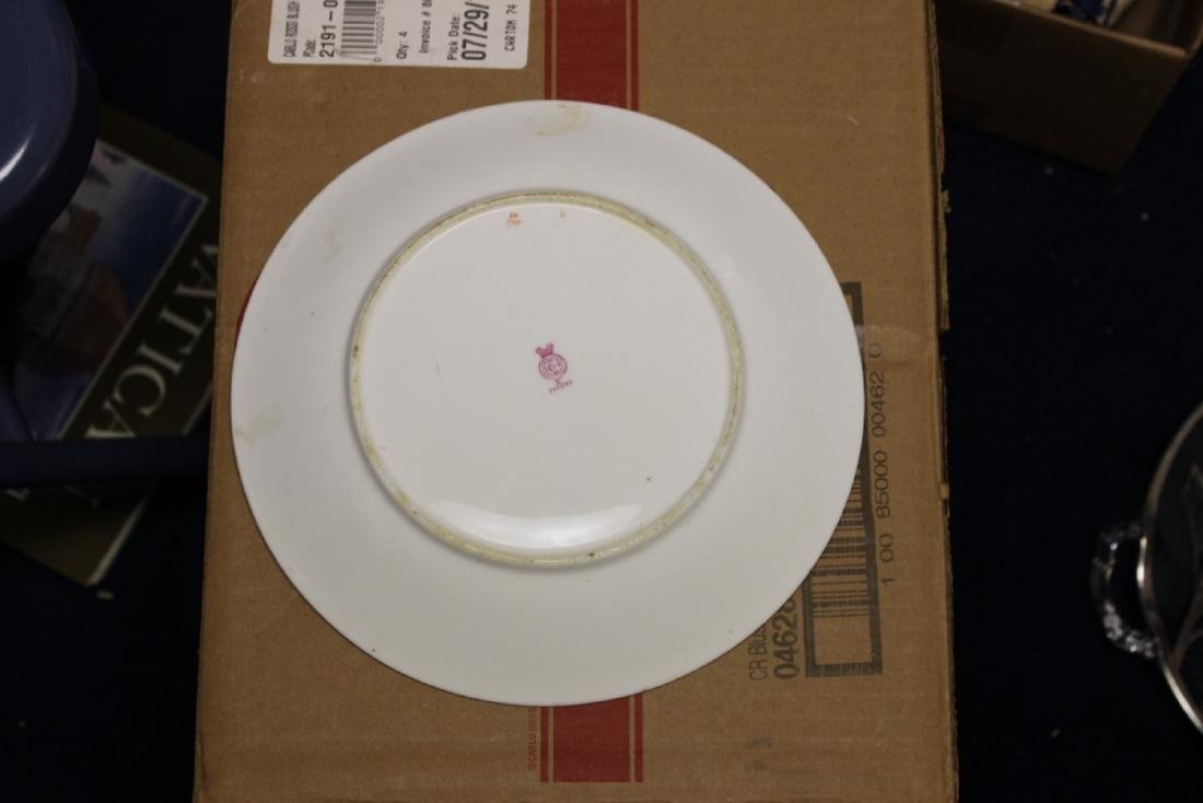 A Rare Royal Worcester Patent Pink Hand Painted Plate - 8