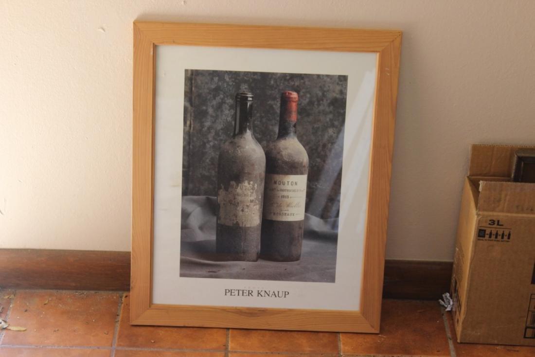 A Peter Knaup Wine Photograph - Framed