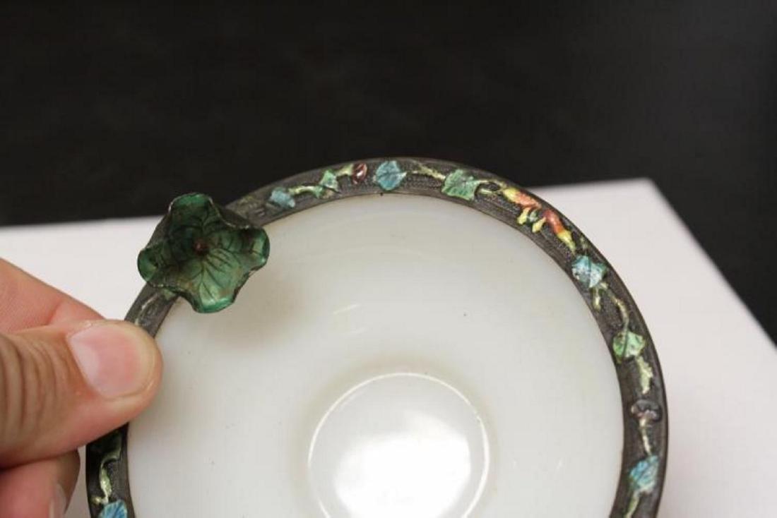 A Chinese Enamel Rim Peking Glass Small Bowl - 2