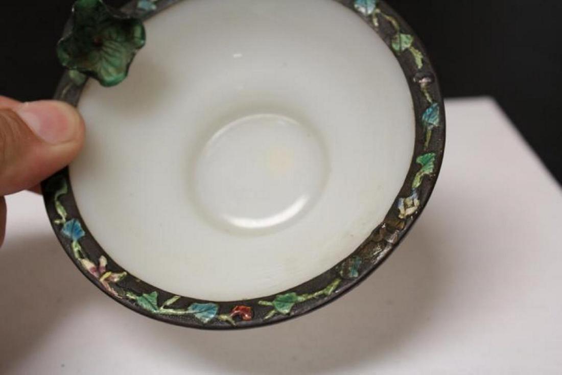 A Chinese Enamel Rim Peking Glass Small Bowl - 3