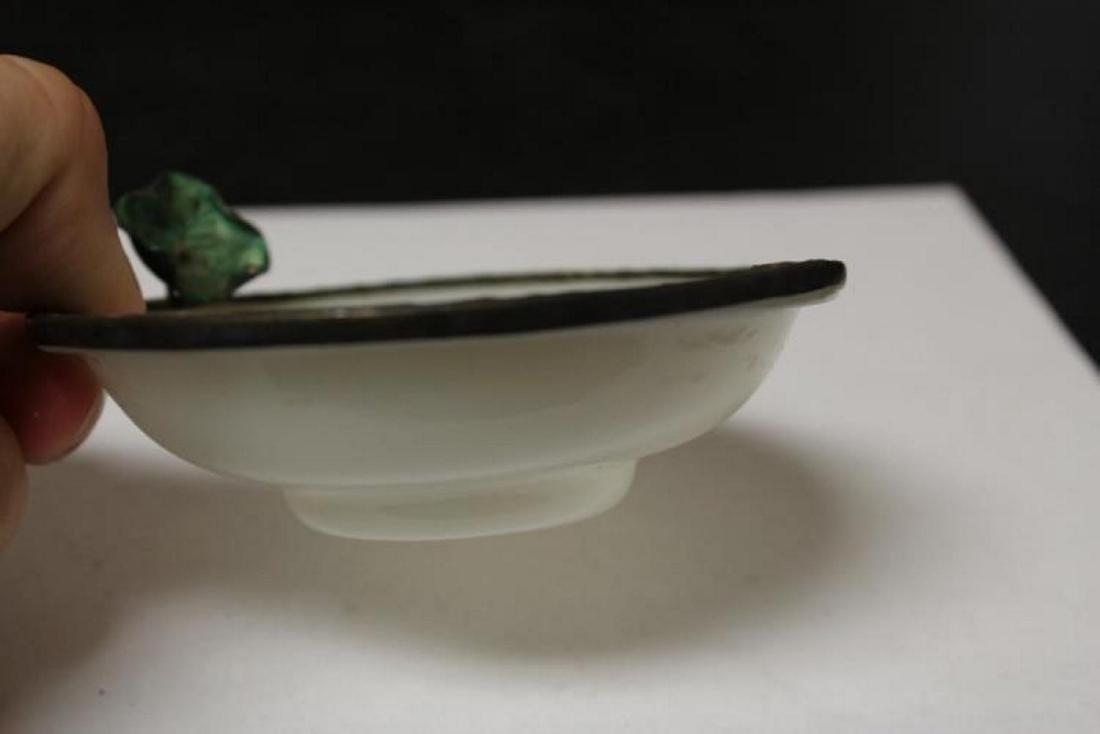A Chinese Enamel Rim Peking Glass Small Bowl - 4