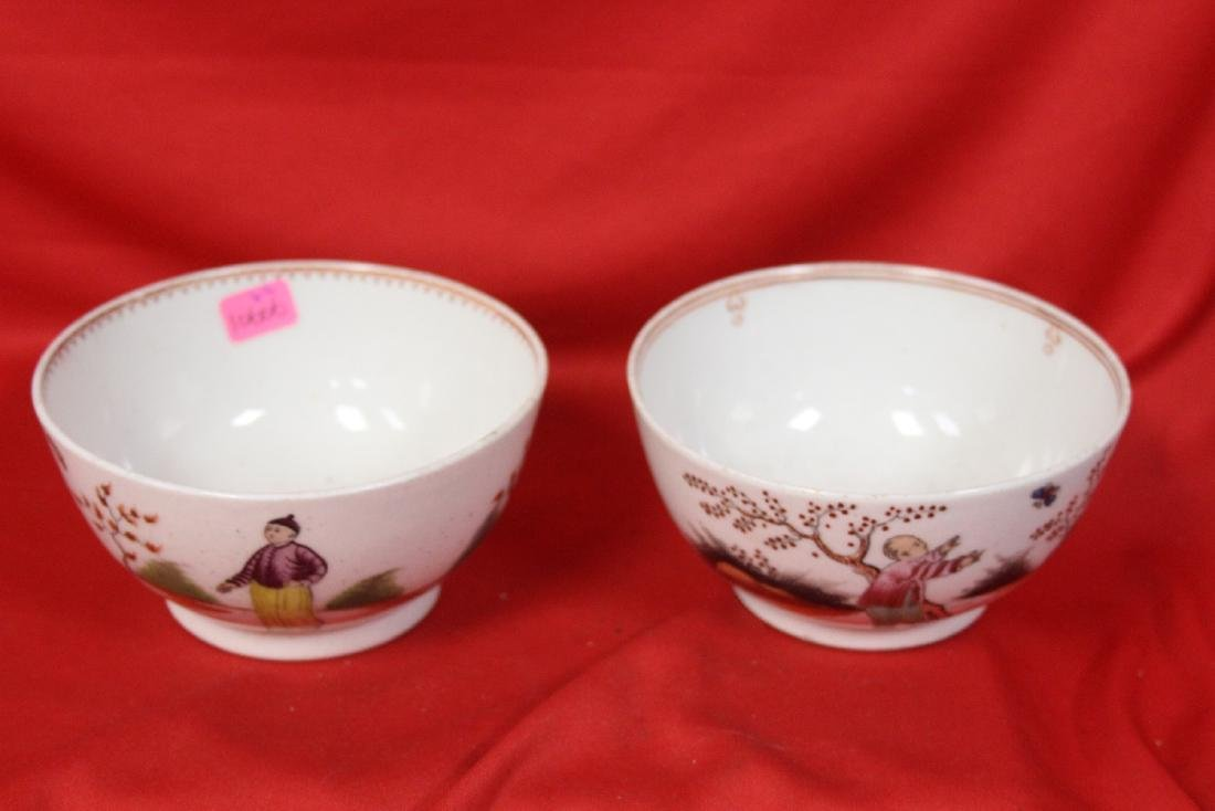 A Pair of Export Chinese Export Bowl