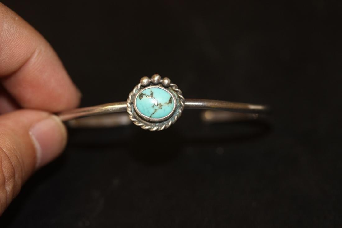 A Sterling Silver Torquoise Bracelet