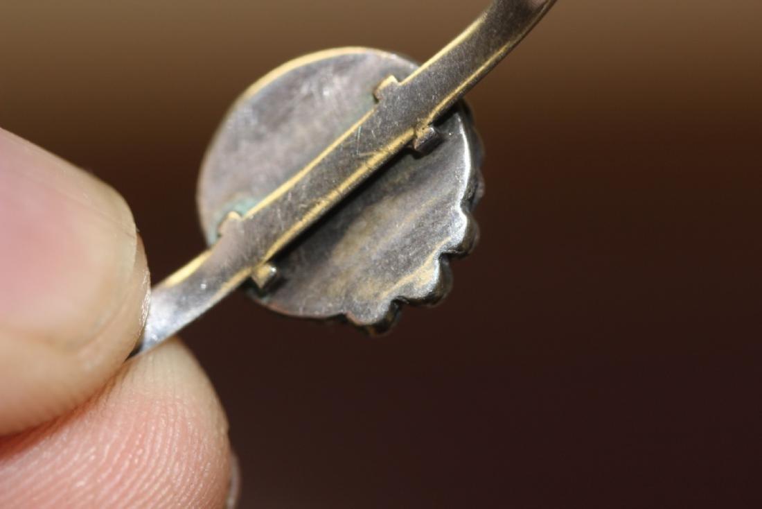A Sterling Silver Torquoise Bracelet - 5