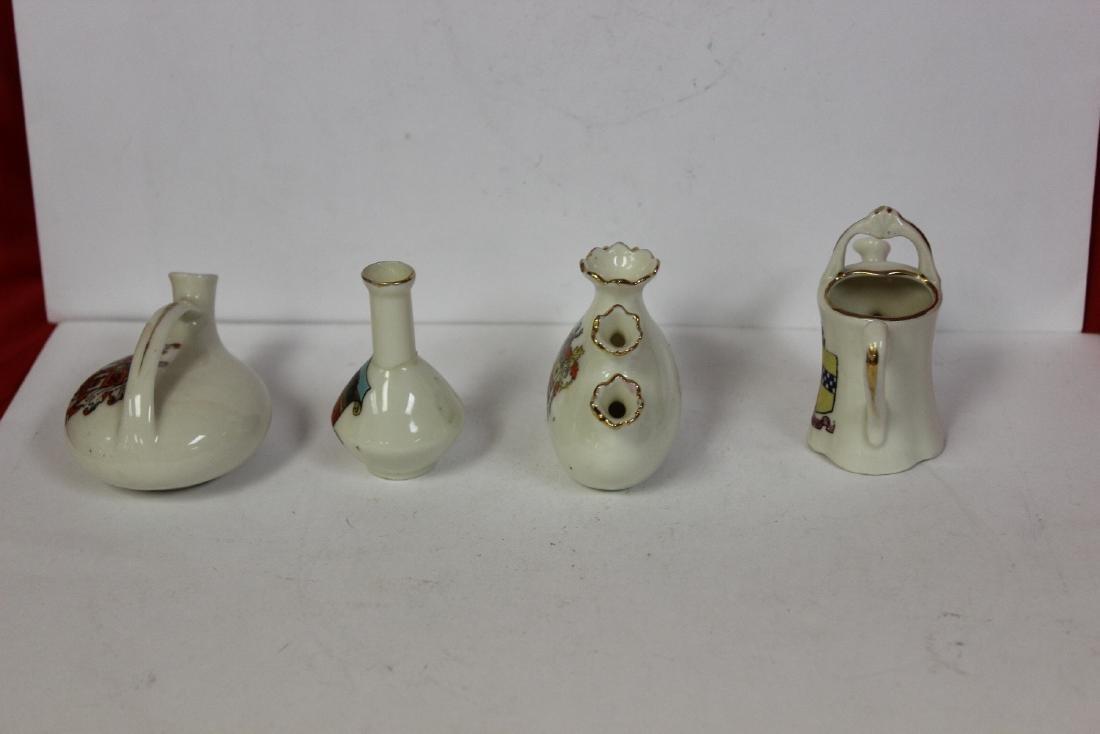 Lot of 4 Miniature Armour Ceramic Articles - 4