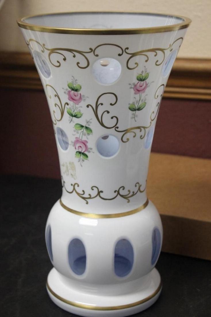 A Bohemian Glass Vase