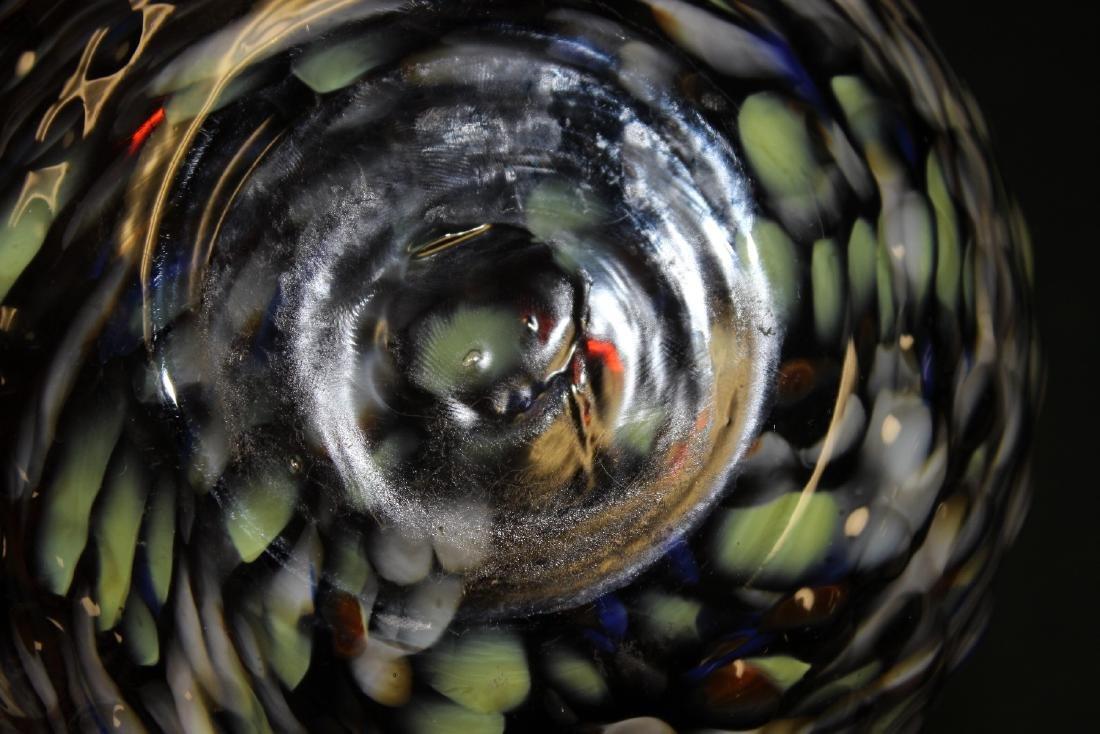 An Art Glass Owl Pitcher - 2