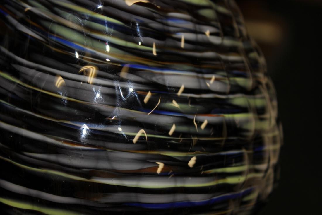 An Art Glass Owl Pitcher - 4