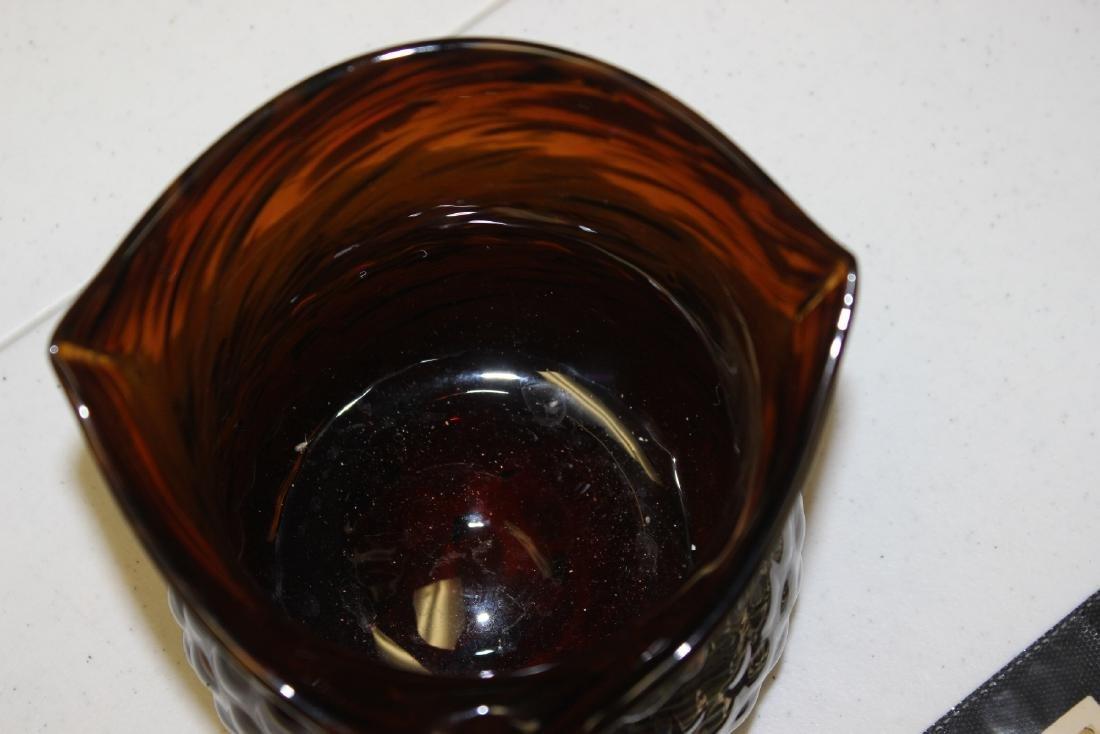 An Art Glass Owl Pitcher - 5
