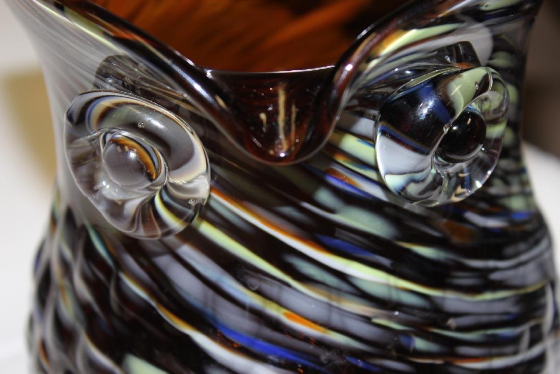 An Art Glass Owl Pitcher - 6