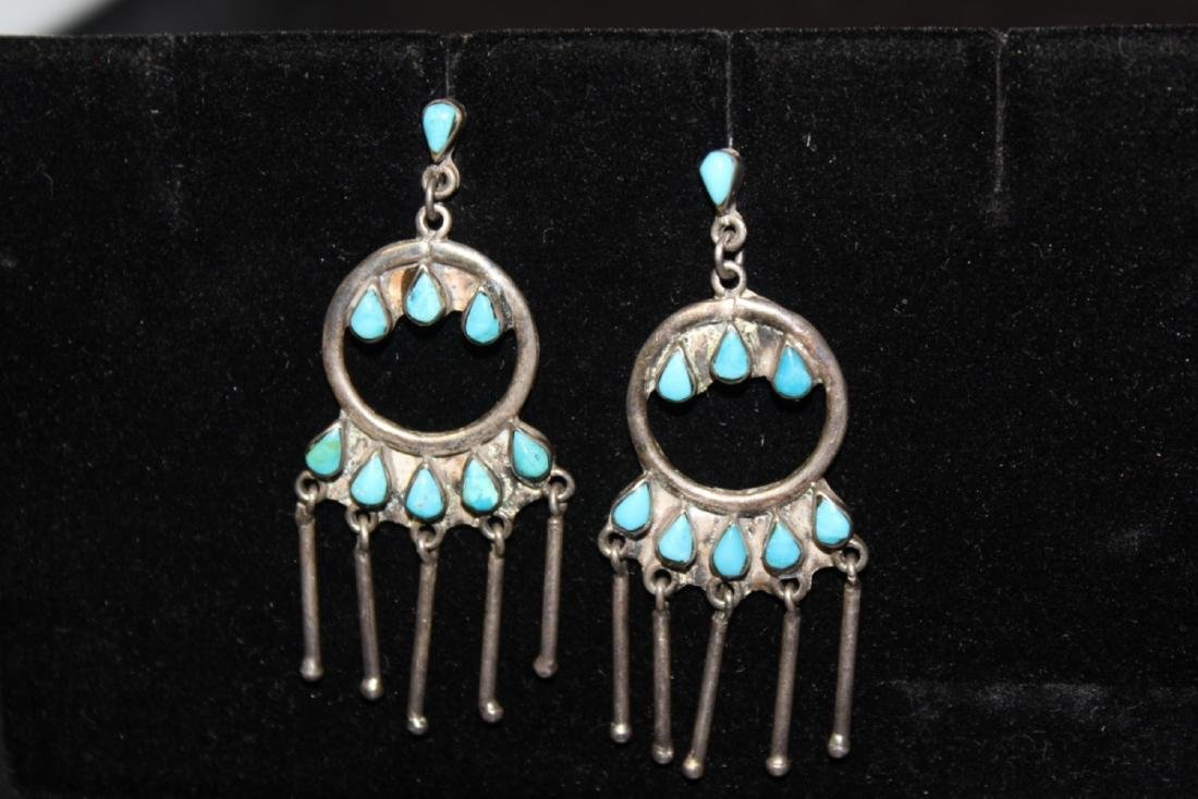 A Mexico Torquoise and Sterling Earrings