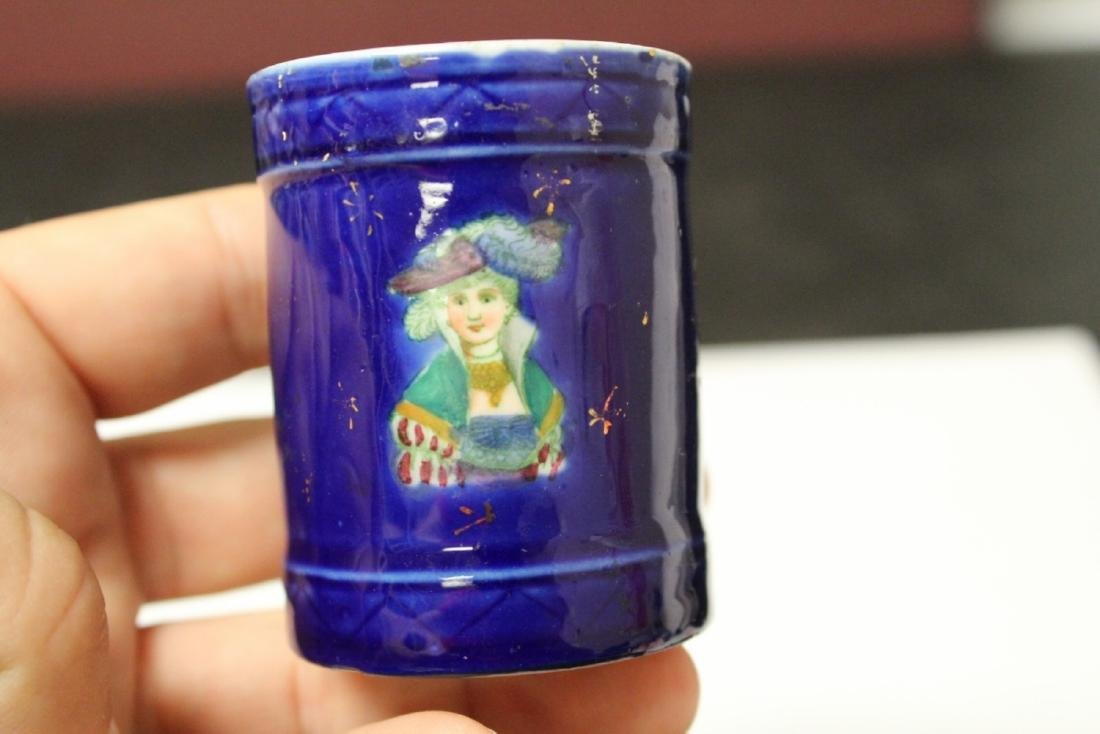 A Hand Painted Porcelain Figerual Cup - 5