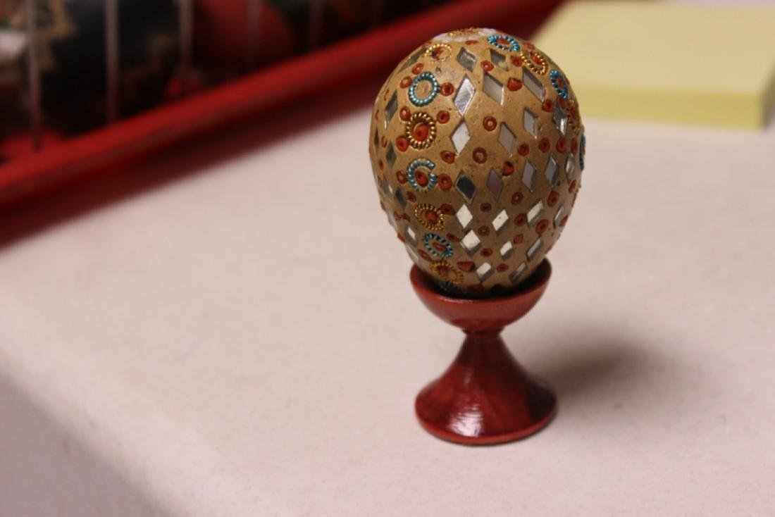 A Decorative Egg on Stand - 2