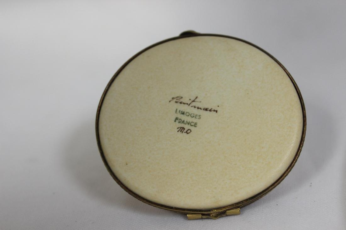 A Peint Main Limoge Trinket Box - 4