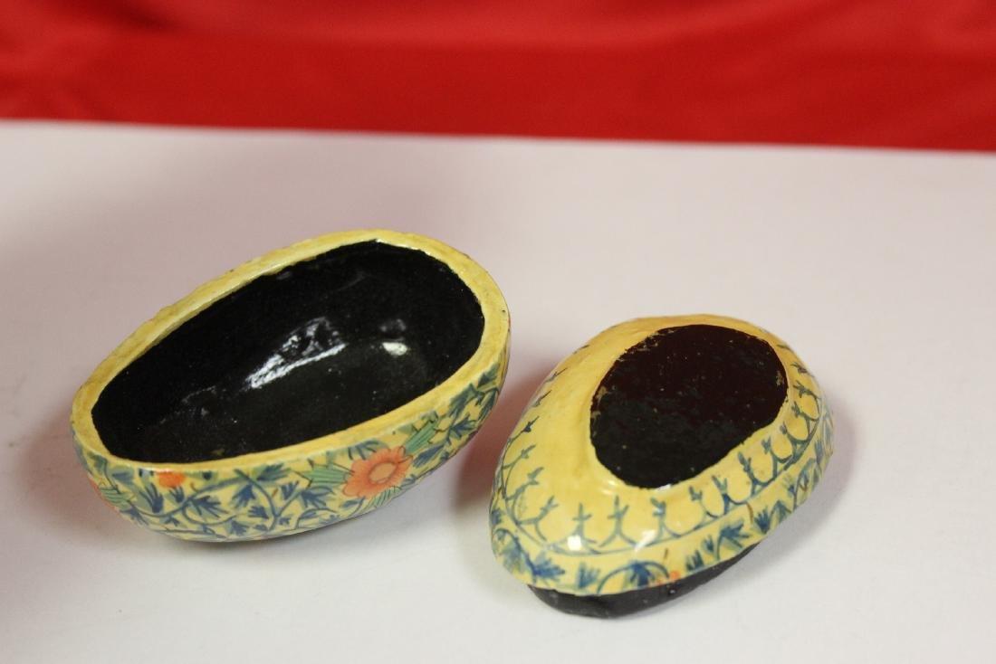 a Lacquer Egg Form Trinket Box - 4
