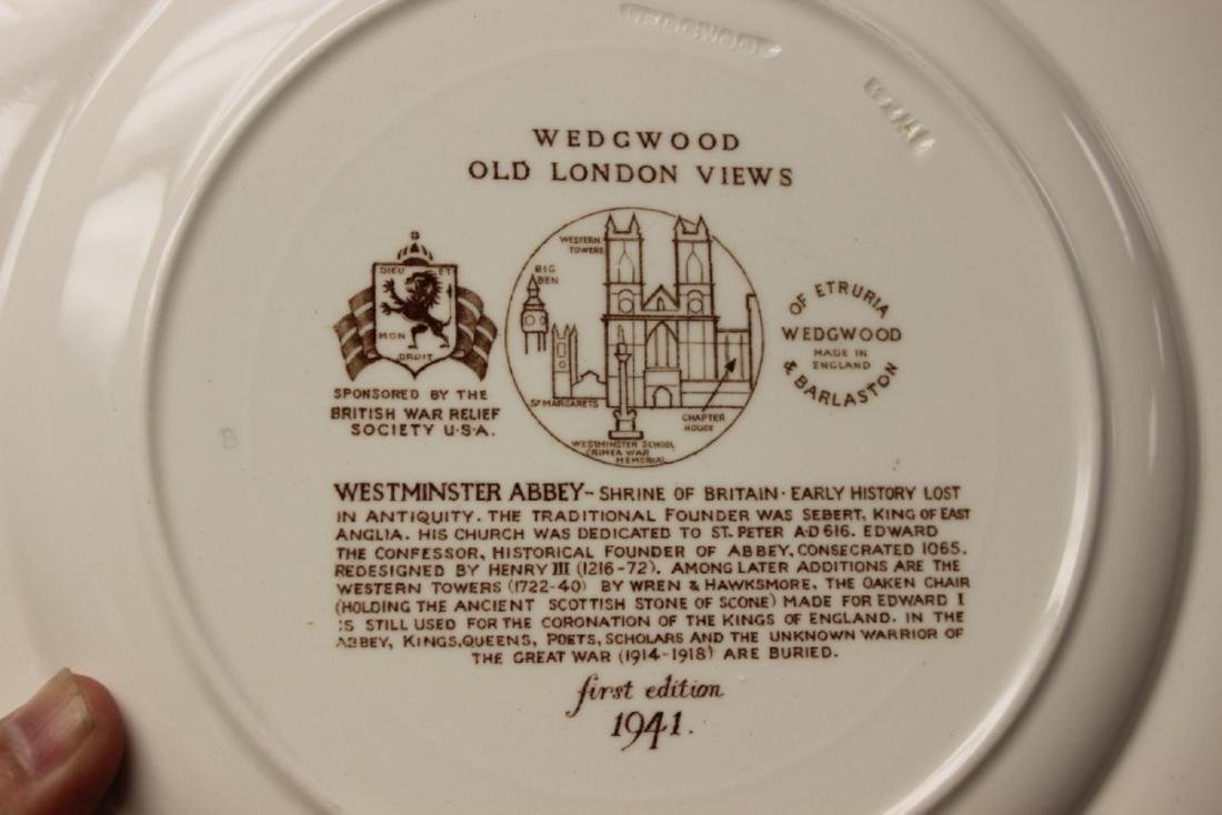 A Wedgewood Old London View Plate - 3