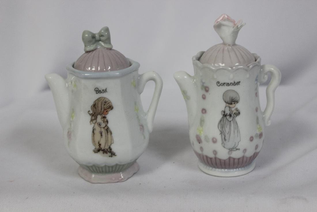 A Pair of Precious Moments Spice Containers