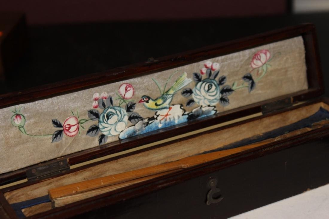 A Lacquer Box with a Fan Inside - 4