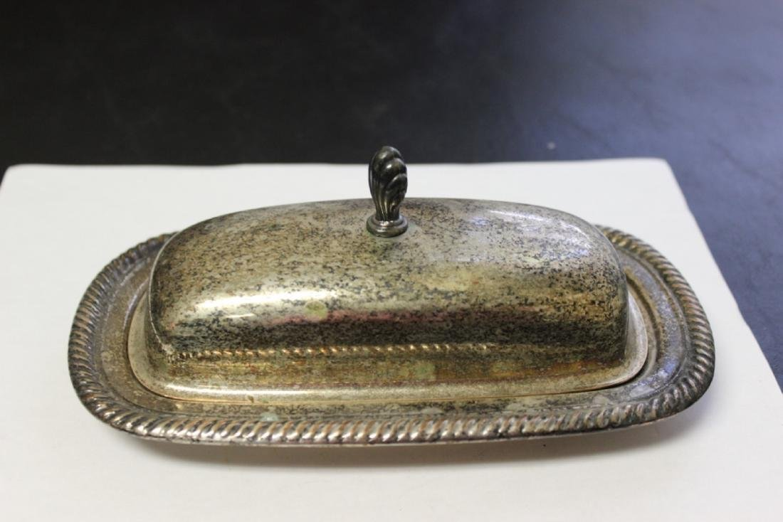 A Silverplated Butter Dish