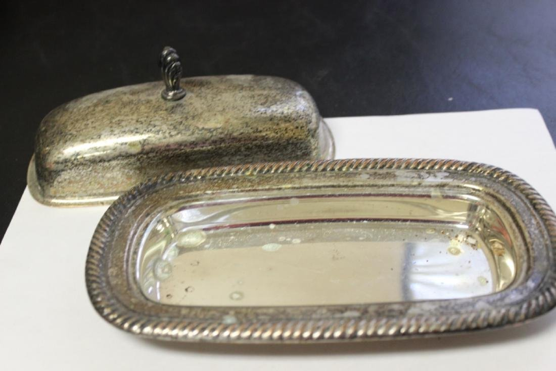 A Silverplated Butter Dish - 2