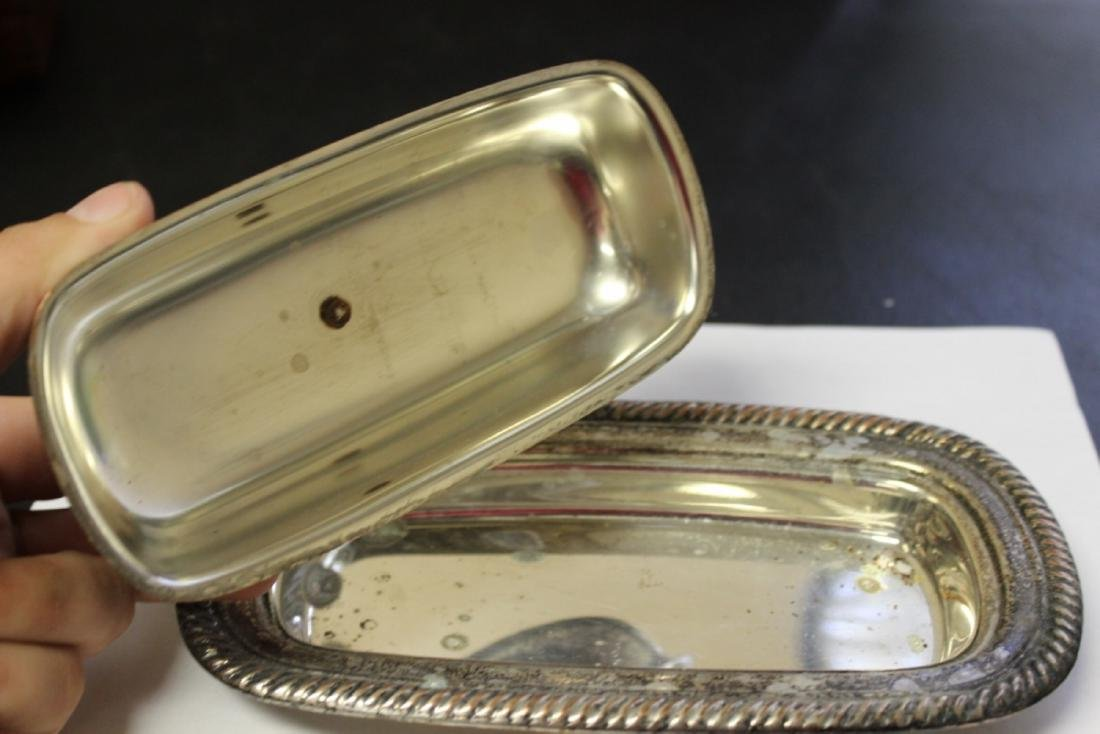 A Silverplated Butter Dish - 3