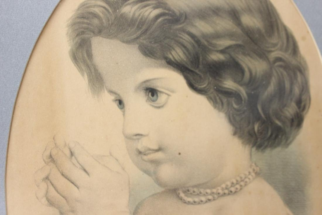 """A Vintage Drawing Possibly Antique """"The First Prayer"""" - 3"""
