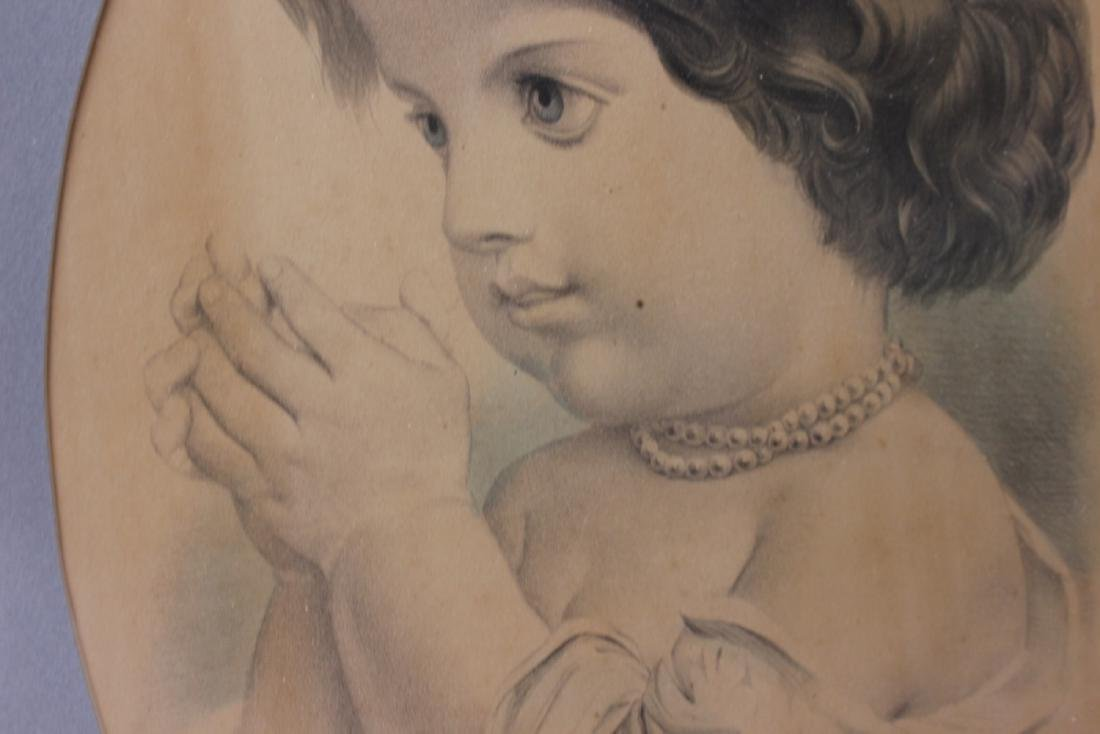 """A Vintage Drawing Possibly Antique """"The First Prayer"""" - 6"""