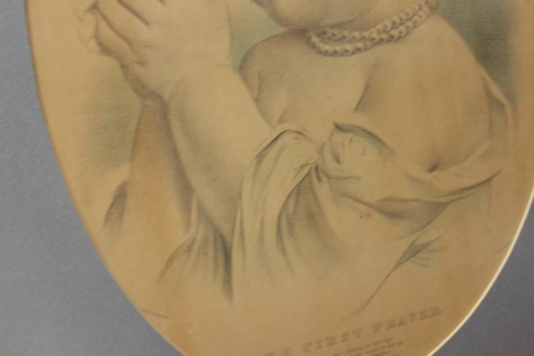 """A Vintage Drawing Possibly Antique """"The First Prayer"""" - 8"""