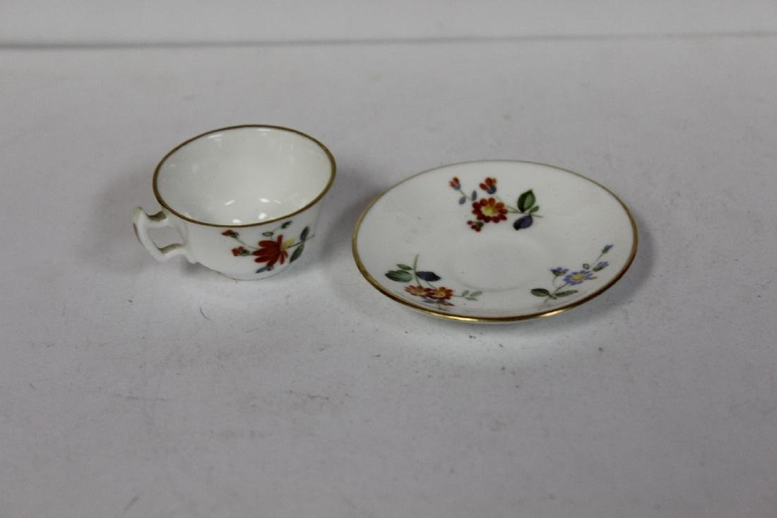 A Miniature Roal Crown Derby cup and Saucer - 2