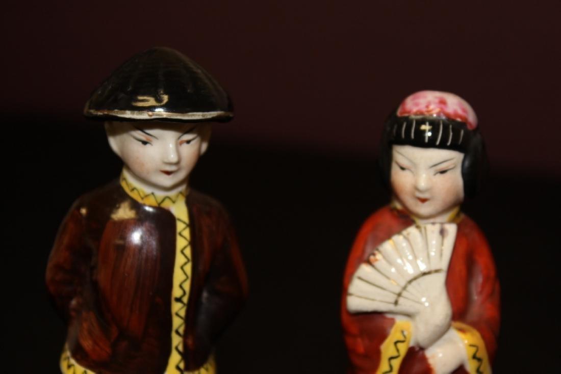 Lot of Two Vintage Japanese Figurine - 2