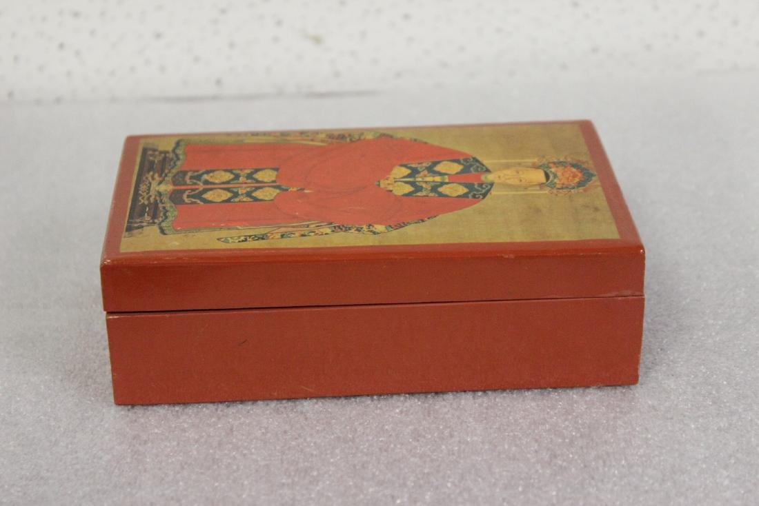 An Oriental Motif Wooden Box - 2