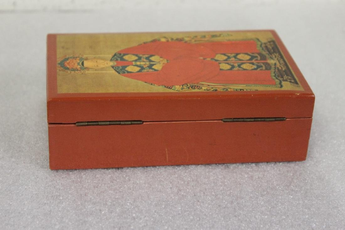An Oriental Motif Wooden Box - 7