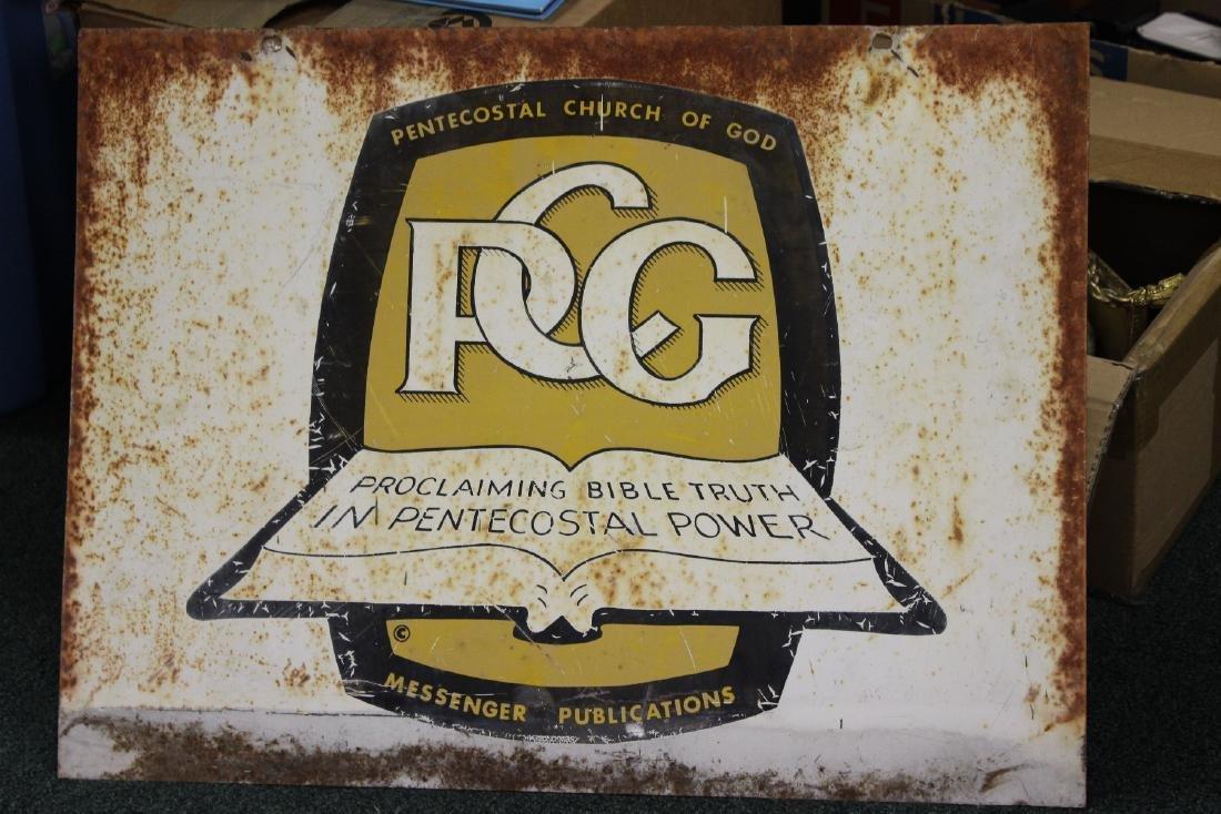 An Old Metal Sign