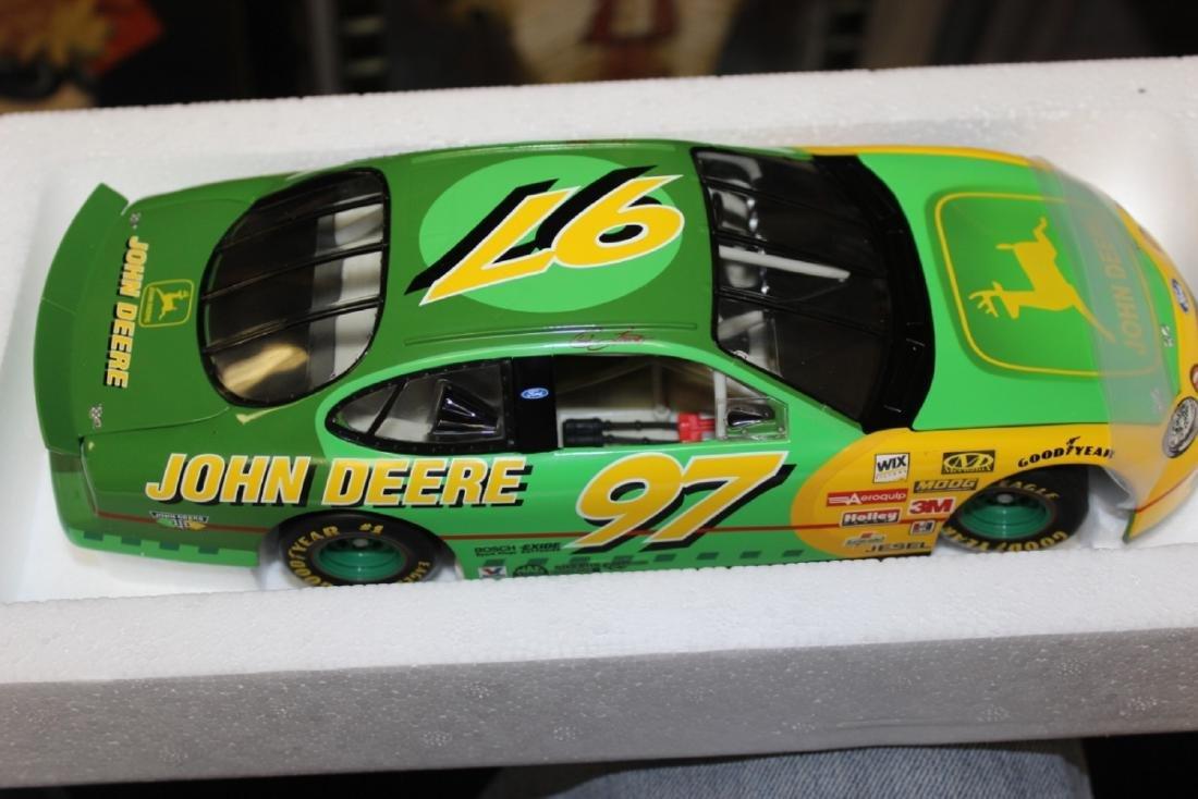 A John Deere Chad Little Die Cast Race Car Model - 3