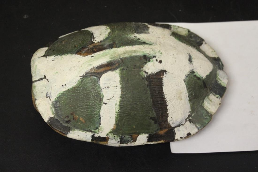 A Hand Painted Faux Tortoise Shell Art Work - 3