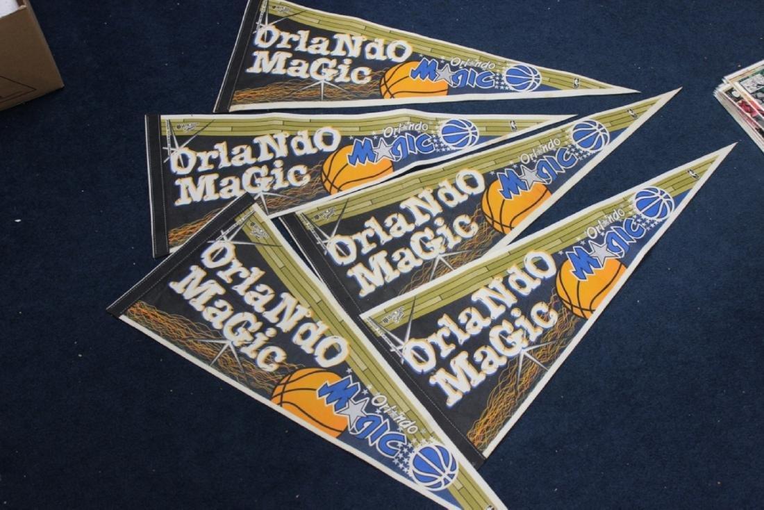 A Lot of 5 Orlando Magic Pennants