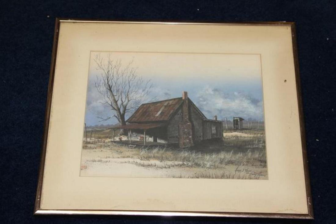 A Framed Paint by Huey Theus