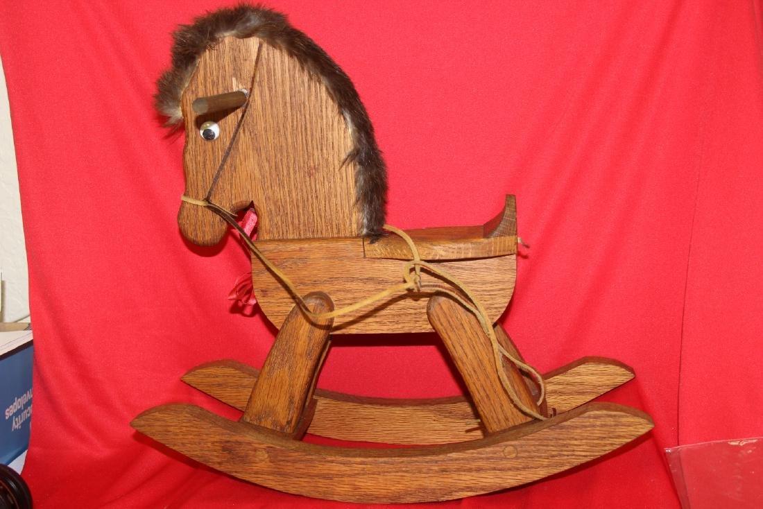 A Wooden Rocking Horse