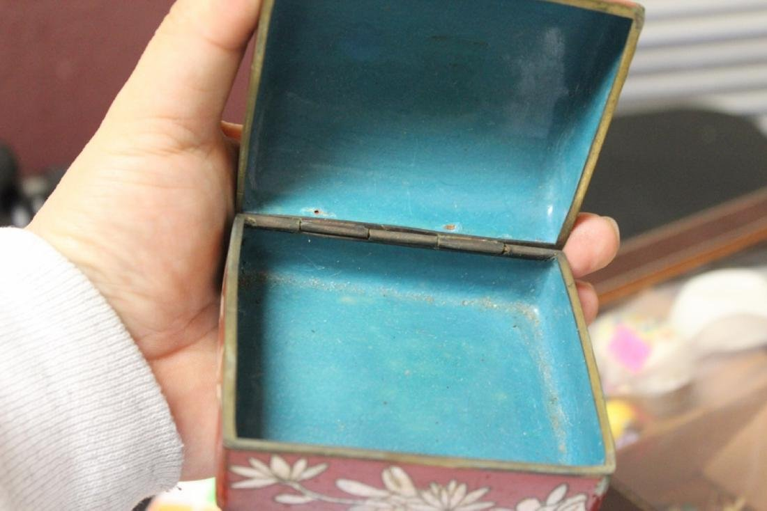 An Antique Chinese Cloisonne Box - 10
