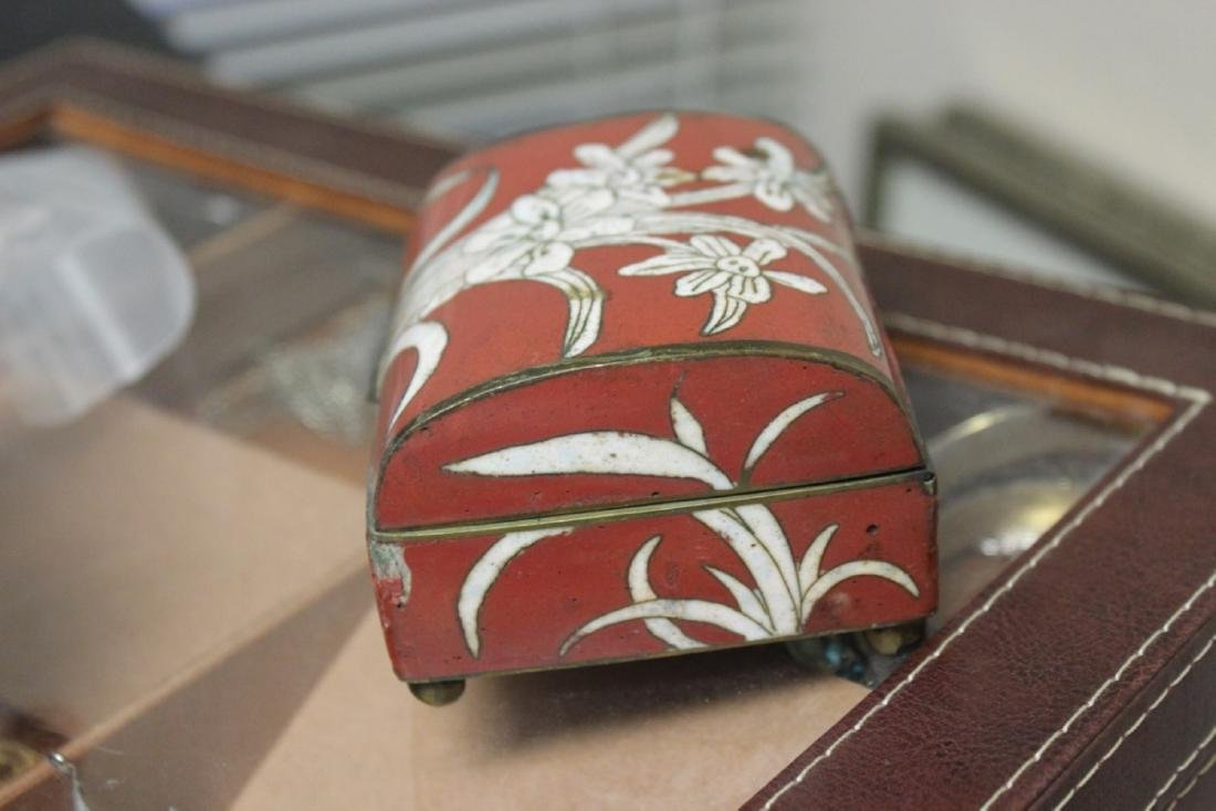 An Antique Chinese Cloisonne Box - 2