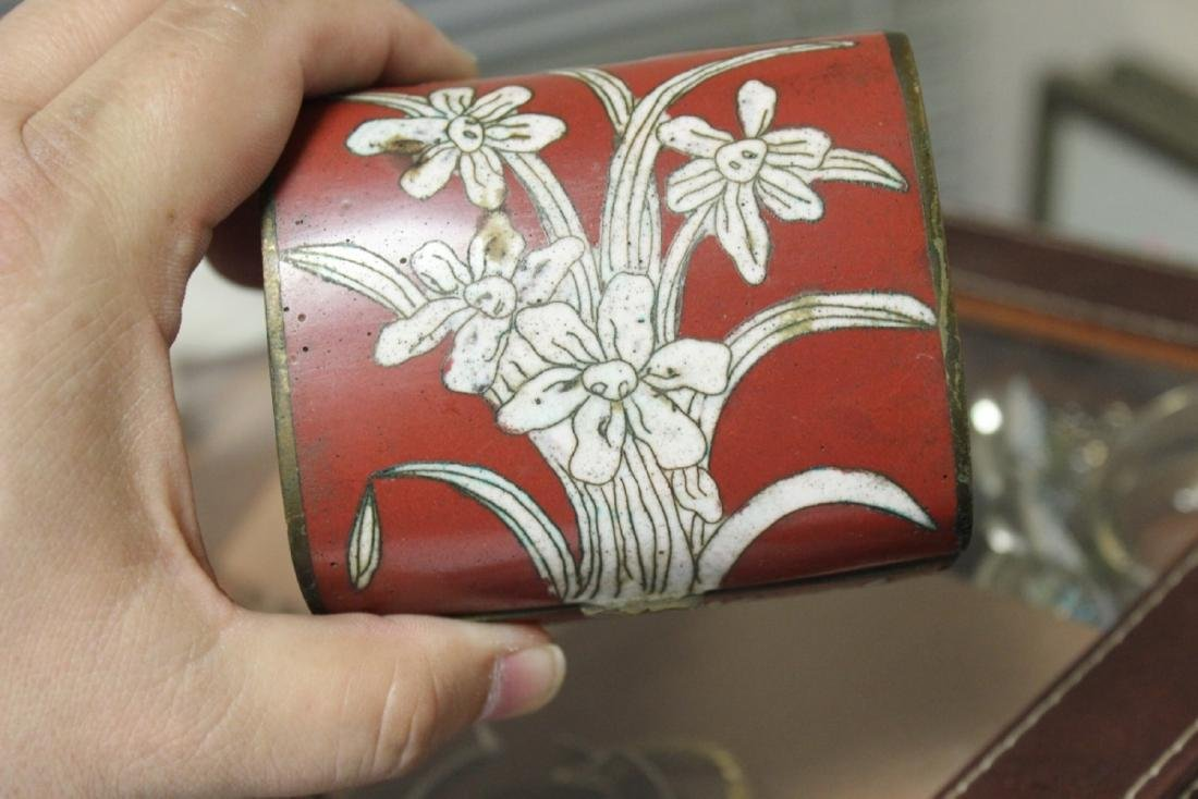 An Antique Chinese Cloisonne Box - 6