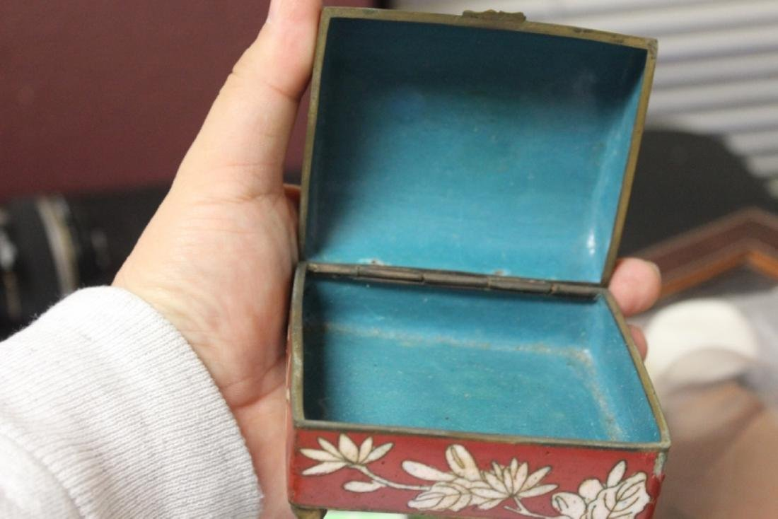 An Antique Chinese Cloisonne Box - 9