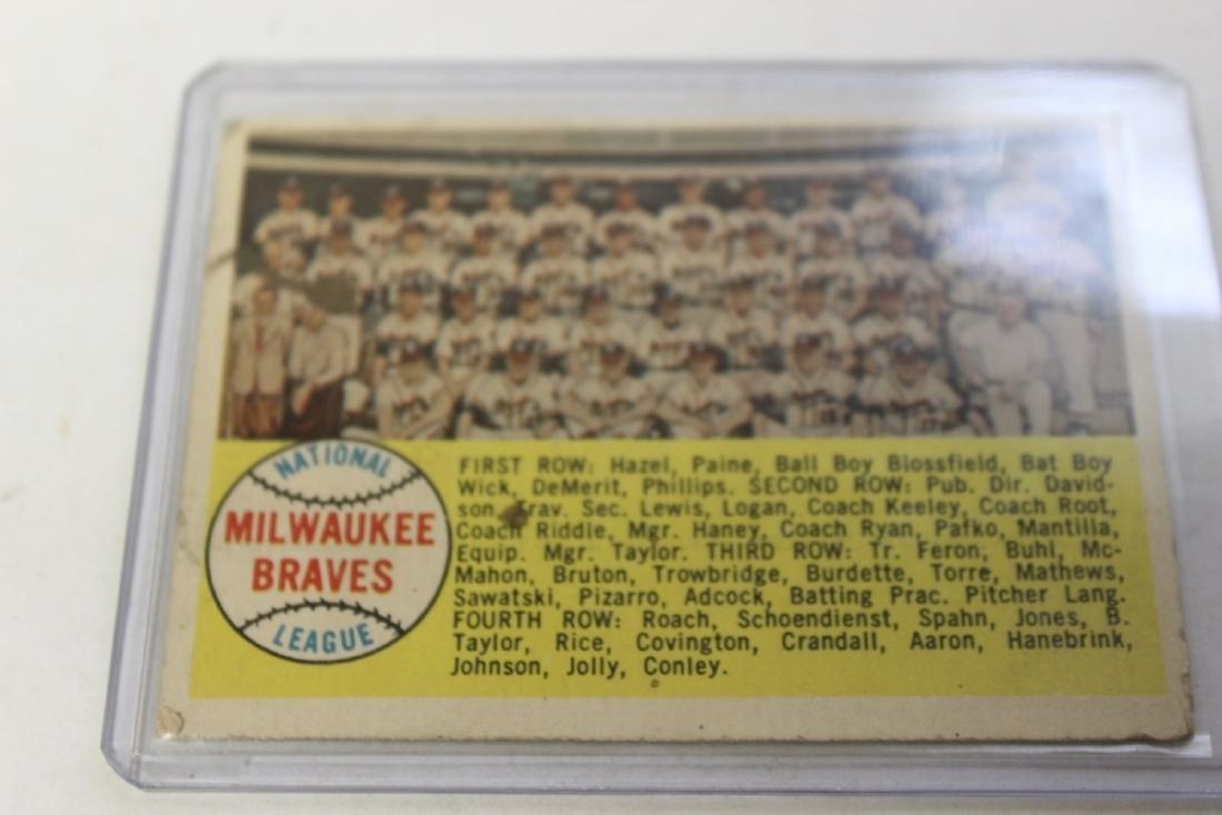 A 1958 Milwaukee Braves Card - Rare