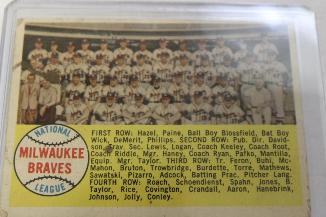 A 1958 Milwaukee Braves Card - Rare - 2