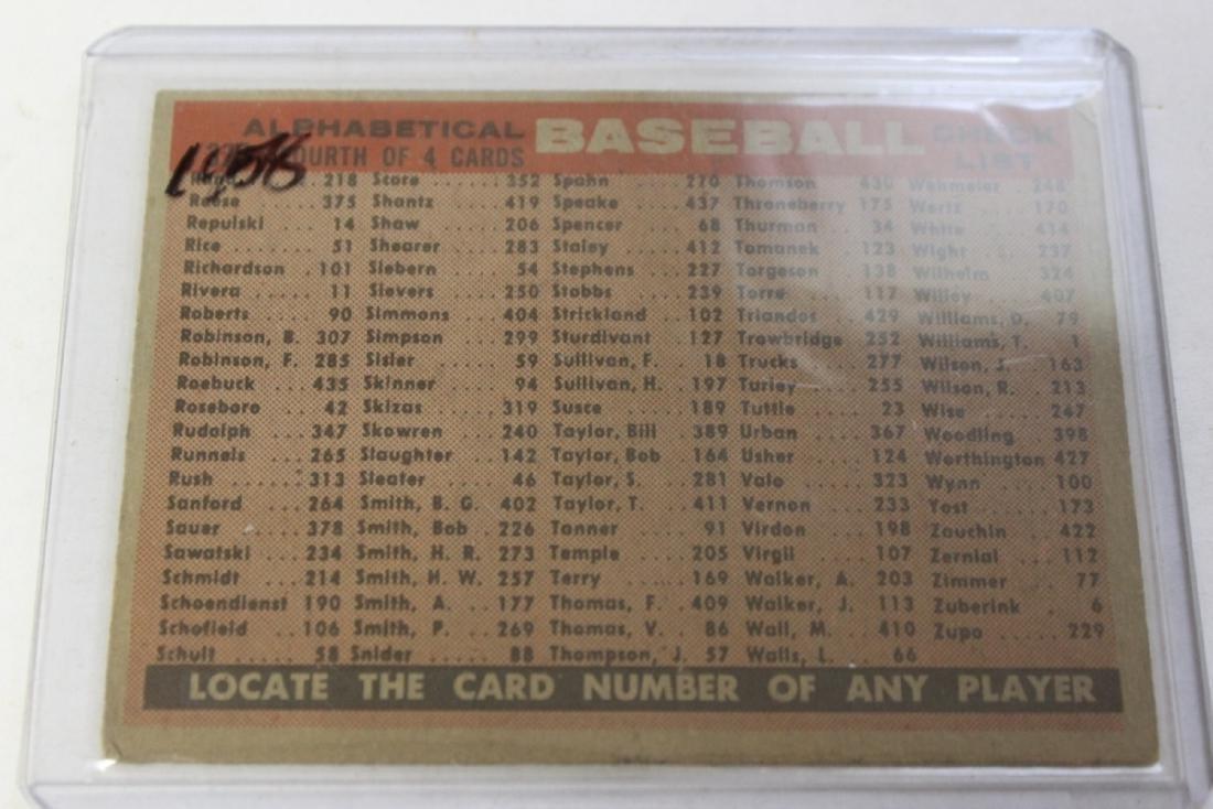 A 1958 Milwaukee Braves Card - Rare - 3