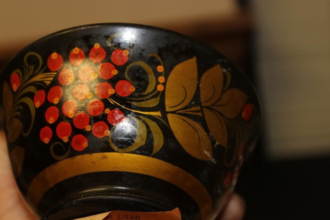 A Russian Lacquer Bowl - 5