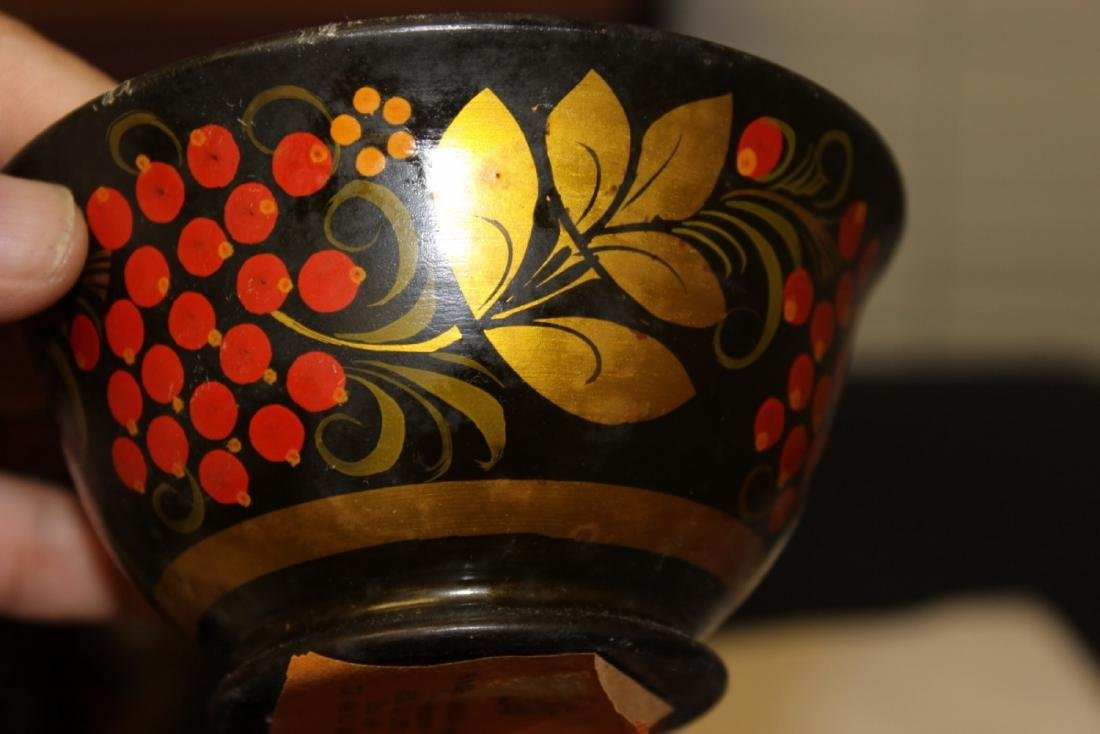 A Russian Lacquer Bowl - 6